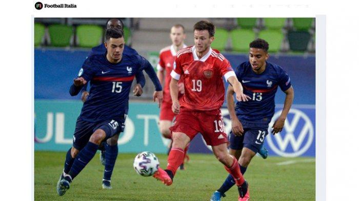 Gelandang Timnas Prancis U-21, Romain Faivre. Pemain yang bermain di klub Ligue 1 Prancis, Brest, itu dilaporkan didekati klub raksasa Italia, AC Milan dalam bursa transfer musim panas 2021.