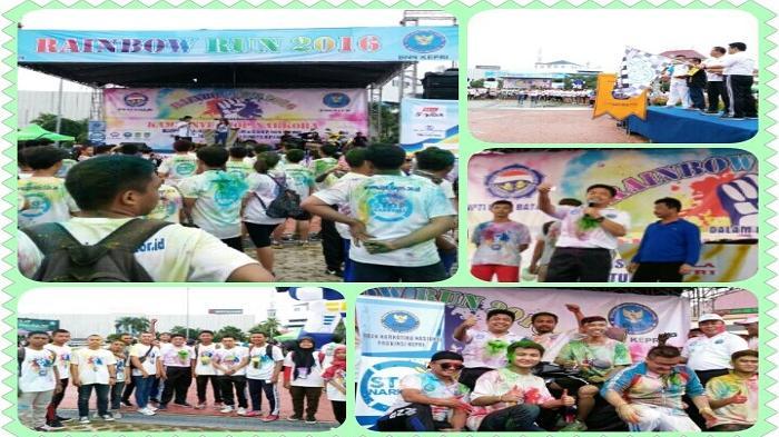 Kampanye Stop Narkoba, BNNP Kepri dan IPTI Menggelar Kegiatan Rainbow Run 5K 2016