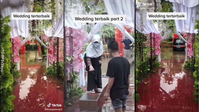 VIRAL Acara Pernikahan di Tengah Banjir, Dekorasinya Disebut Seperti Adegan Film Crazy Rich Asians