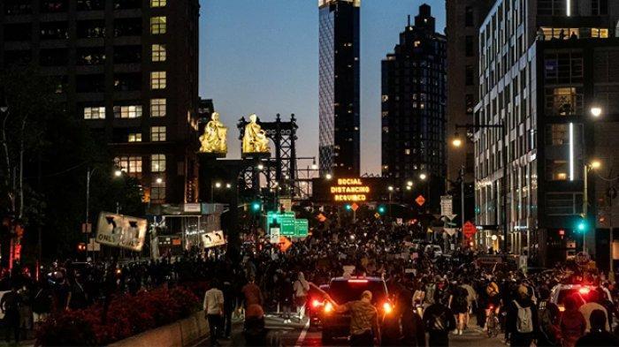 Aksi Protes Anti-Polisi AS Juga Terjadi di Jalanan Kota New York