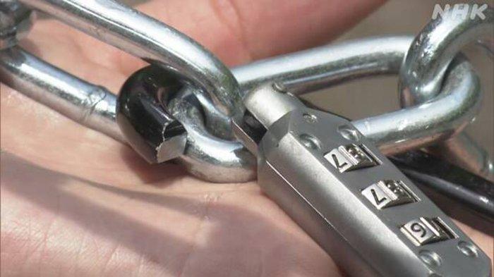 Gembok Kunci yang Dirusak