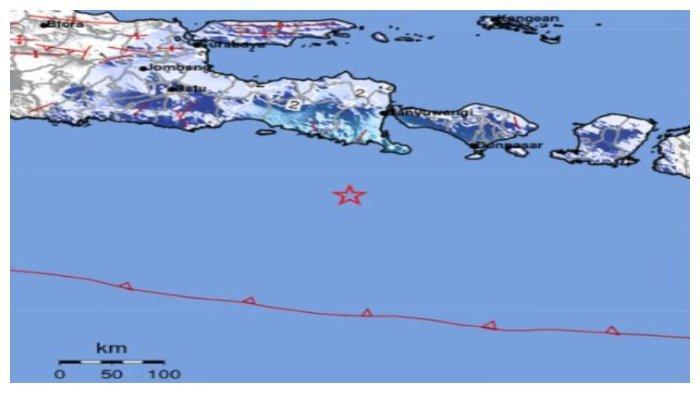 Gempa Kekuatan 5,2 SR Guncang Bali dan Jawa Timur, Terasa di Denpasar, Banyuwangi hingga Jember