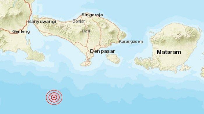 Jumat Pagi Gempa Magnitudo 5,2 Guncang Bali, Getarannya Terasa Hingga Denpasar, Kuta dan Ubud