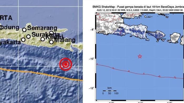 2 Kali Gempa Guncang Bali Senin 12 Agustus 2019 Pagi Hari Ini Getaran Sampai Banyuwangi Jember Tribunnews Com Mobile