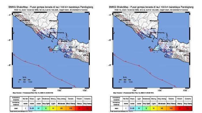 Gempa Hari Ini - Gempa 4.8 Guncang Pandeglang Siang Ini, Terasa hingga Anyer