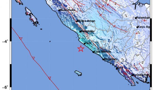 Guncangan Kuat Gempa M 5,2 Dirasakan Masyarakat Kabupaten Seluma Bengkulu Selama 3 Detik