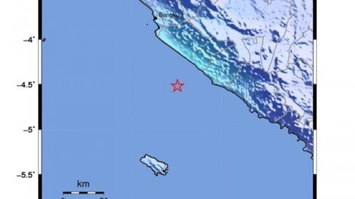 Gempa Bumi Magnitudo 4,9 di Bengkulu Selatan Getarannya Terasa Hingga Liwa Lampung Barat