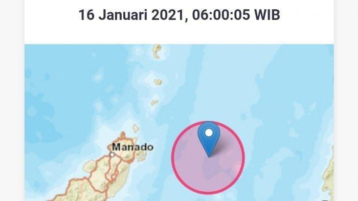 BREAKINGNEWS : Pagi Ini Gempa Bumi 5.2 SR Terjadi di Sulut, Tak Berpotensi Tsunami