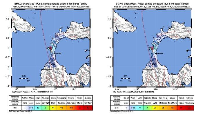 Gempa Hari Ini - Setelah Bengkulu, BMKG Catat Gempa Mengguncang Tambu, Donggala