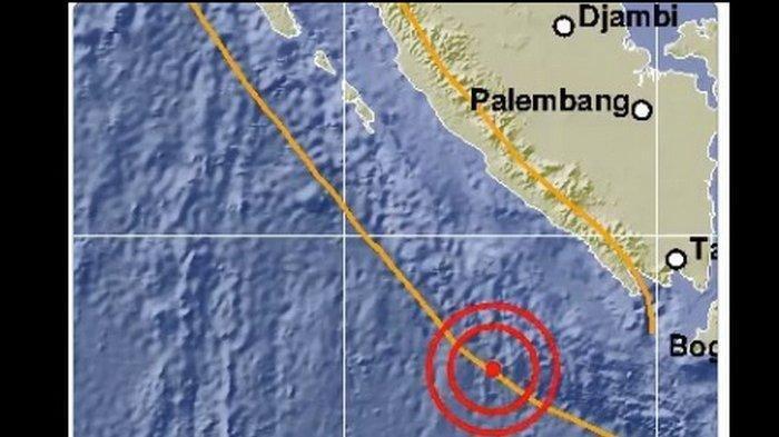 Gempa Hari Ini 23/9/2019 Guncang Bengkulu, Sebelumnya Ada 2 Gempa di Sumut, Terasa III MMI di Medan