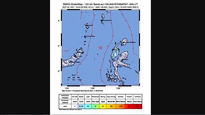 Gempa Magnitudo 5,2 Guncang Halmahera Barat, Maluku Utara, BMKG: Tidak Berpotensi Tsunami