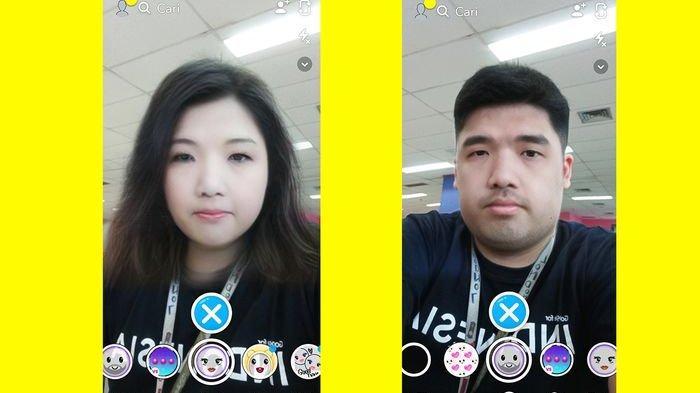 Lagi Hits Cara Edit Foto Ubah Wajah Jadi Wanita Atau Pria Pakai Filter Snapchat Gender Swap Tribunnews Com Mobile