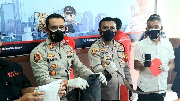 Polres Metro Jakarta Pusat merilis kasus geng motor yang melukai anggota Polsek Metro Menteng, Kamis (4/3/2021).