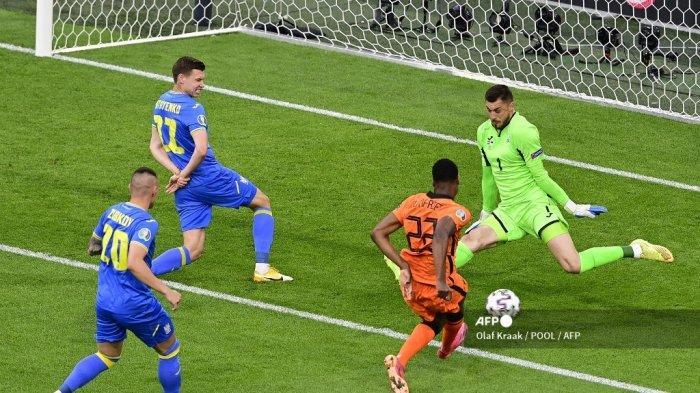 HASIL Babak I Belanda vs Ukraina Euro 2020: Bushchan Gemilang, De Oranje Sulit Cetak Gol, Skor 0-0