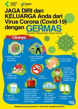 Poster pencegahan virus corona.