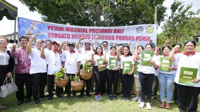 """Puluhan Ribu Petani Bali Siap Jadi Pahlawan Pangan di Era """"Milenial"""""""