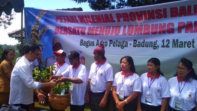 Sekjen Kementerian Petanian Buka Gerakan Petani Milenial Provinsi Bali