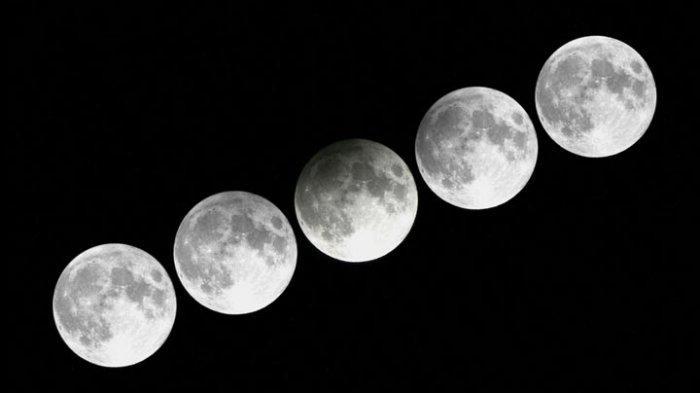 ILUSTRASI - Gerhana Bulan Penumbra