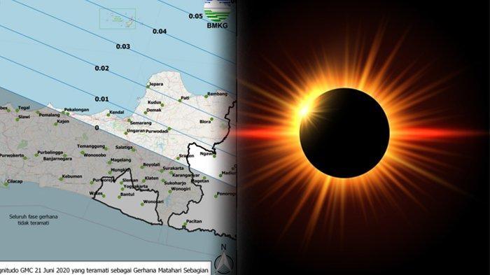 Gerhana Matahari Cincin 21 Juni di Jawa Tengah, Ini Daftar 13 Kota yang Bisa Menikmatinya