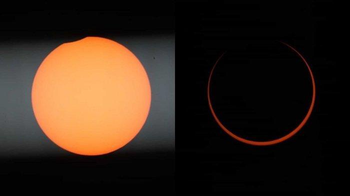 Foto Gerhana Matahari Cincin Sempurna Hari Ini Dilihat dari Singkawang