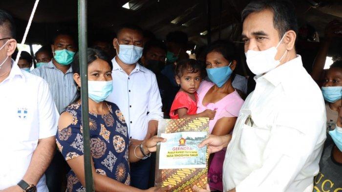 Gerindra Salurkan Bantuan Sembako dan Masker bagi Korban Bencana NTT