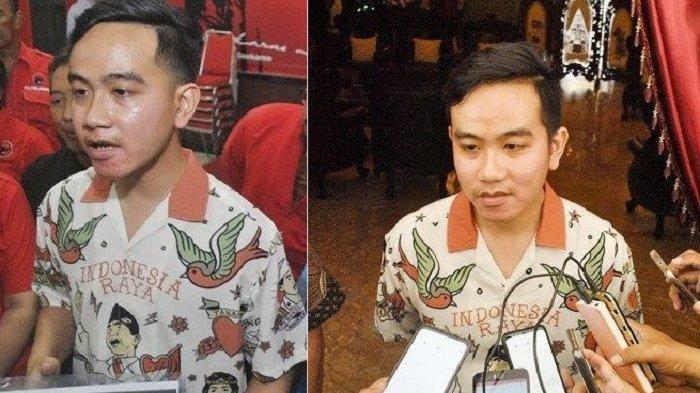 Gibran dalam dua momen politik mengenakan baju yang sama.