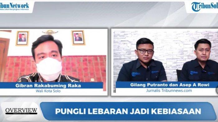 Wali Kota Solo, Gibran Rakabuming Raka dalam Obrolan Virtual Overview di YouTube Tribunnews.com, Kamis (6/5/2021).