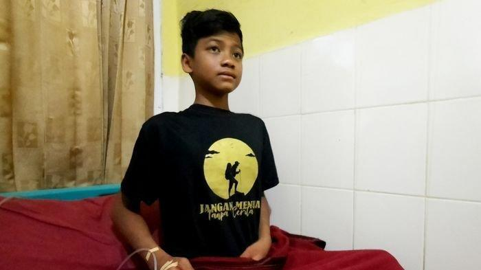Muhammad Gibran Arrasyid, bocah berusia 14 tahun yang sempat dinyatakan hilang selama 6 hari saat mendaki Gunung Guntur pada 18 September 2021 lalu