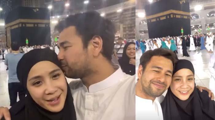 Raffi Ahmad cium Nagita Slavina di depan Kabah