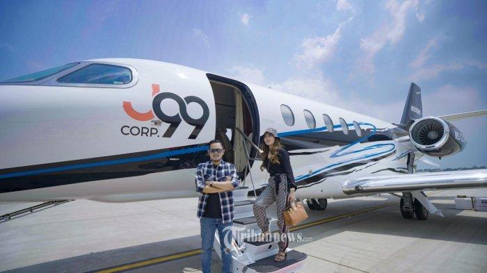Terbang Perdana Pesawat Jet Pribadi Gilang Widya Pramana Kirim Bantuan Ke Kalsel