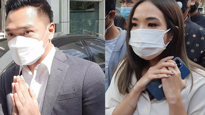 Gisella Anastasia dan Michael Yukinobu De Fretes dipertemukan lagi. Keduanya tiba di Pengadilan Negeri Jakarta Selatan, Selasa (23/3/2021).