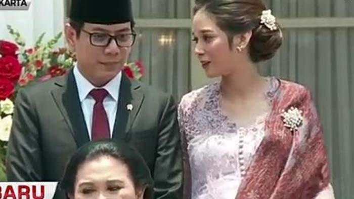 Hamil 8 Bulan, Gista Putri Temani Wishnutama di Pelantikan Menteri, Intip saat Ngobrol Bareng Iriana
