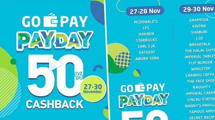 Hari Ini Go Pay Pay Day Promo Cashback 50 Persen Di Starbucks Hokben Mcdonald S Tribunnews Com Mobile