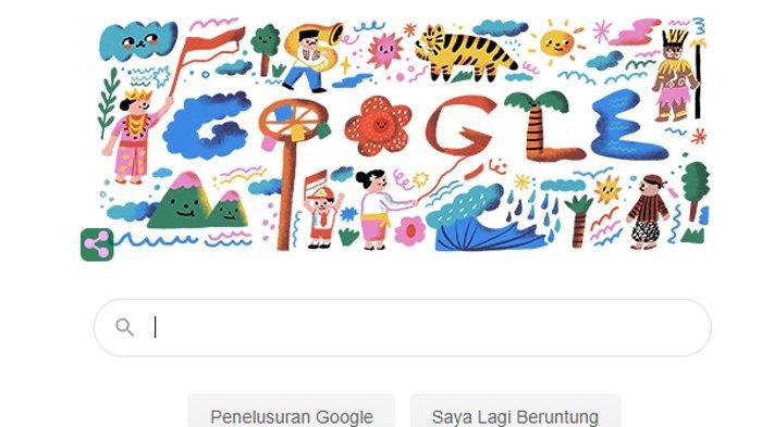 Makna Gambar Google Doodle Hari Ini Yang Ditampilkan Pada Kemerdekaan Ri 2020 Tribun Manado