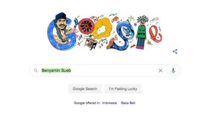 Seniman asal Betawi Ini Muncul di Google Doodle, Peringati Peresmian Taman Benyamin Sueb