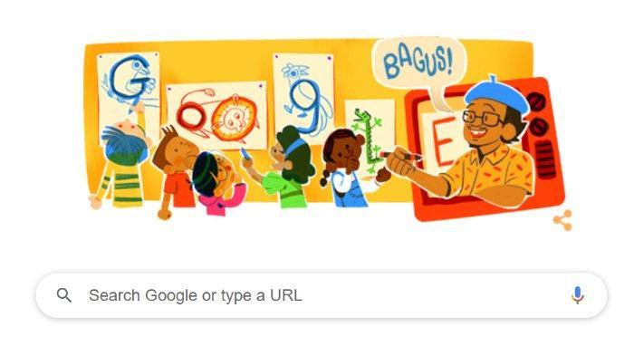 Profil Lengkap Tino Sidin yang Hari Ini Sosoknya Diabadikan Lewat Google Doodle