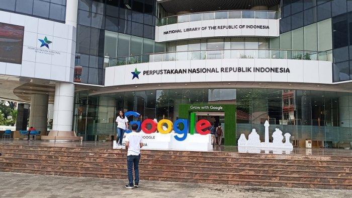 Google meluncurkan Grow with Google di Perpustakaan Nasional, Jakarta Pusat, Selasa (18/2/2020).