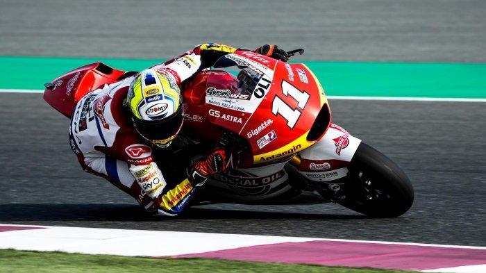 Duo pembalap Federal Oil Gresini Moto2, Nicolo Bulega dan Fabio Di Giannantonio mengisi papan tengah balapan GP Qatar.