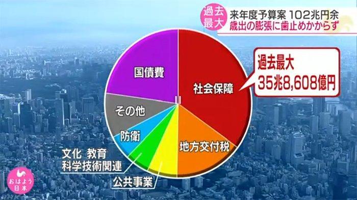 Lebih dari Sepertiga Anggaran Jepang Tahun 2020 Dialokasikan untuk Kesejahteraan Sosial