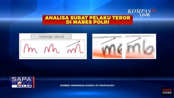Grafolog Deborah Dewi mengungkap makna tulisan tangan dari kedua pelaku teror