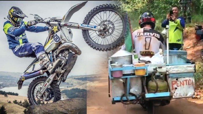 Ketika Jawara Dunia Motor Enduro, Graham Jarvis Menjajal Motor Penjaja Cilok di Kalimantan
