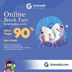 Gramedia kembali menghadirkan Online Book Fair Gramedia.com volume kedua yang akan berlangsung pada 26 Juli-30 Juli 2020.
