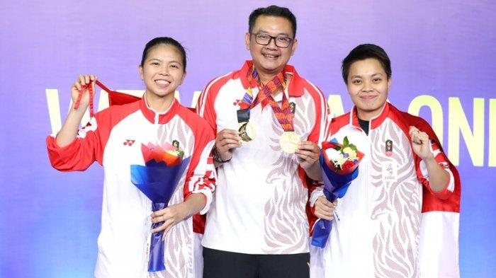 Greysia Polii podium Emas SEA Games 2019