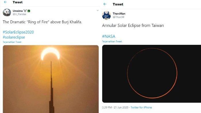 Foto-foto Gerhana Matahari Cincin di Seluruh Dunia, dari China hingga Burj Khalifa