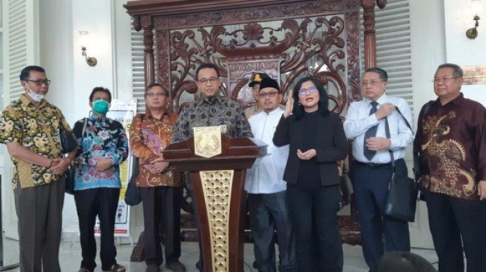 Gubernur DKI Anies Baswedan di Balai Kota DKI, Jakarta Pusat, Kamis (19/3/2020).