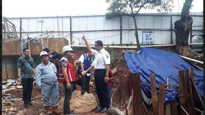 Gara-gara Genangan Air, PT Adhi Karya Kontraktor LRT Diberi Peringatan Keras Anies Baswedan