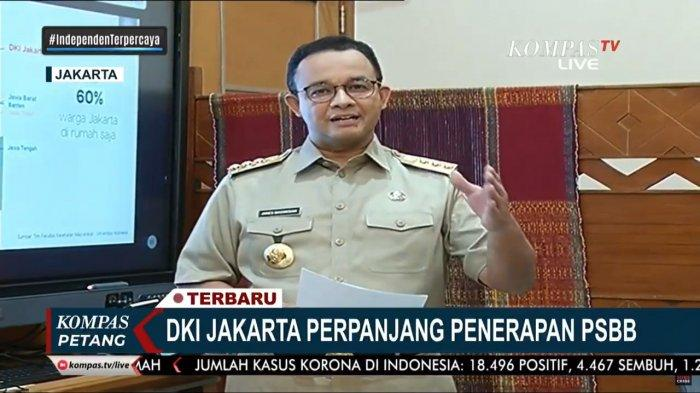 PSBB Jakarta Diperpanjang, Anies Baswedan Janji Ini PSBB Terakhir Jika Masyarakat Patuhi Tiga Aturan