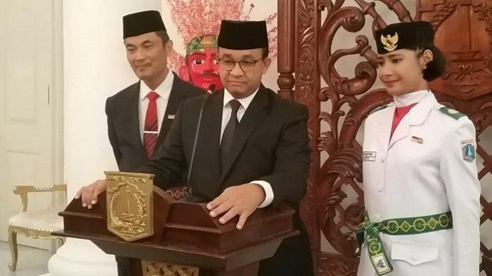 Gubernur DKI Jakarta Anies Baswedan di Balai Kota, Jakarta Pusat, Kamis (15/8/2019).