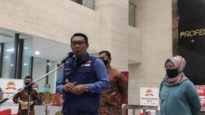 Gubernur Jawa Barat Ridwan Kamil di Bareskrim Polri, Jakarta Selatan, Jumat (20/11/2020).