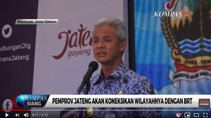 Permudah Konektivitas, Ganjar Pranowo Luncurkan BRT TransJateng Koridor 3 Semarang-Kendal